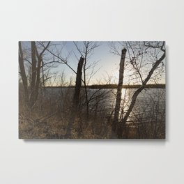 Autumn Lakeshore 2 Metal Print