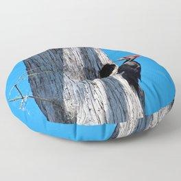 Bayou Bird (Pileated Woodpecker) Floor Pillow