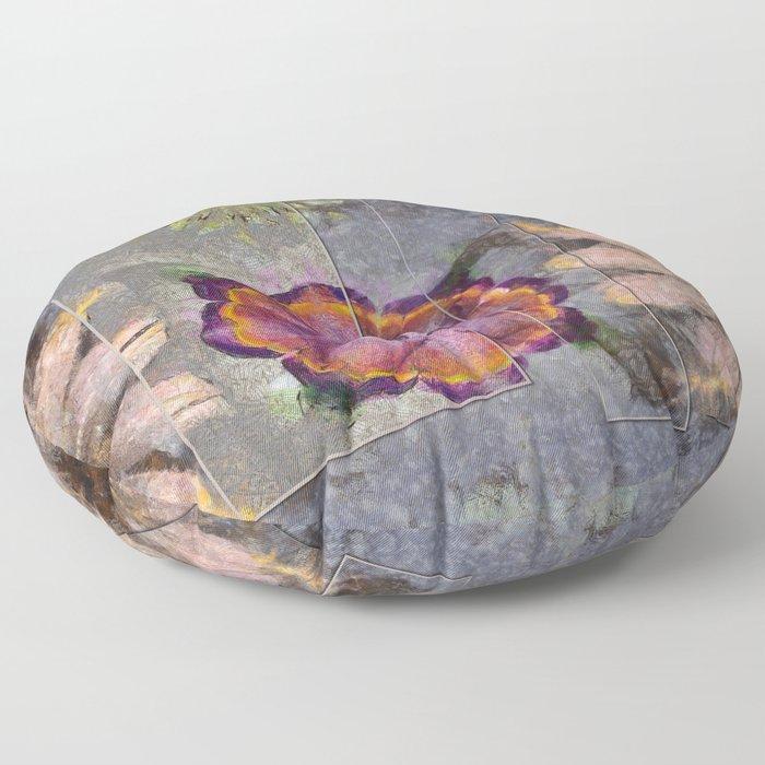 Stickball Au Naturel Flower  ID:16165-150329-07211 Floor Pillow