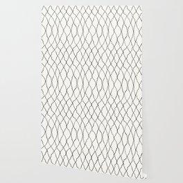 Moroccan Diamond Weave in Black and White Wallpaper