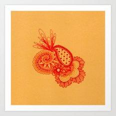 Red Arabesque Art Print