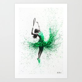 Wimbledon Woman Art Print
