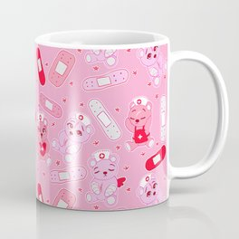 Menhera Nurses on Pink Featuring bears and bandages Coffee Mug