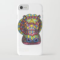 hippo iPhone & iPod Cases featuring Hippo. by Farkas