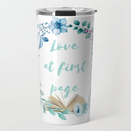 Summer Love at First Page Travel Mug