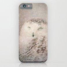 Snowy Owl in the snow iPhone 6s Slim Case