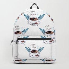 Life Happens Coffee Helps - Coffee Angel Backpack