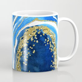 Cobalt blue and gold geode in watercolor (2) Coffee Mug