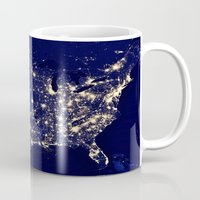america Mugs featuring America by 2sweet4words Designs
