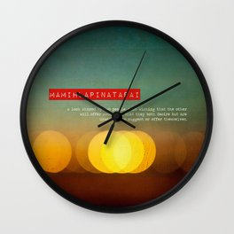Twitterpatted  Wall Clock