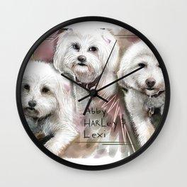 Abby, Harley and Lexi Wall Clock