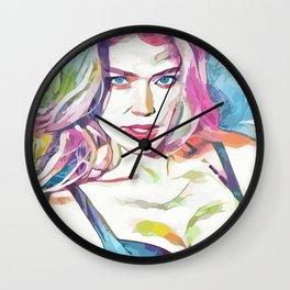 Doutzen Kroes (Creative Illustration Art) Wall Clock