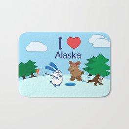 Ernest and Coraline | I love Alaska Bath Mat