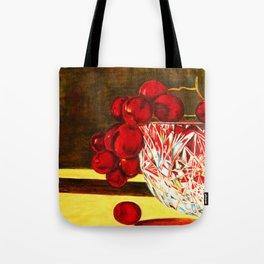 Grapes in a Crystal Bowl Tote Bag
