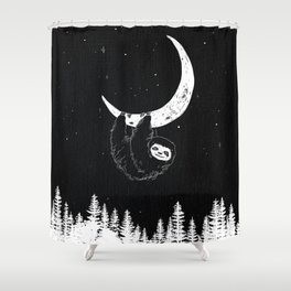 Goodnight Sloth Shower Curtain