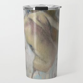 After the Bath, Woman drying herself Travel Mug