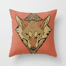 Scrappy (Color) Throw Pillow