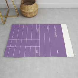 Library Card BSS 28 Negative Purple Rug