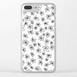 Simple Little Daisies Clear iPhone Case