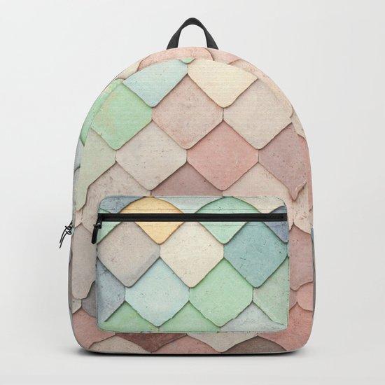 Cute Rainbow Scales Backpack