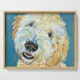 Stanley the Goldendoodle Dog Portrait Serving Tray