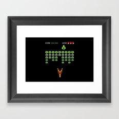Swine Invaders - Angry Birds Framed Art Print