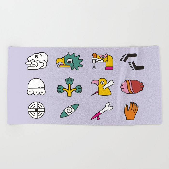Aztec Writing Beach Towel