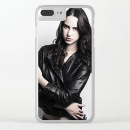Leather Jacket 2 Clear iPhone Case