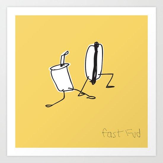 Fast Fud Art Print