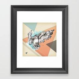 Owl McFly by carographic Framed Art Print