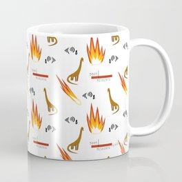 Mesozoic Extinction Event Pattern Coffee Mug