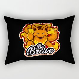 Brave Nine Taile Kitsune Fox Rectangular Pillow
