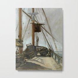 Édouard Manet - The ship's deck Metal Print