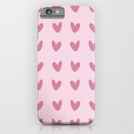 Little Pink Hearts iPhone Case