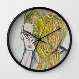 Sneezing Down Wall Clock