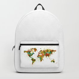 Map of the World watercolor Backpack