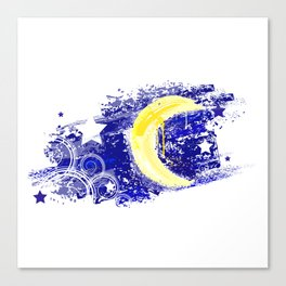 Moon painted Canvas Print