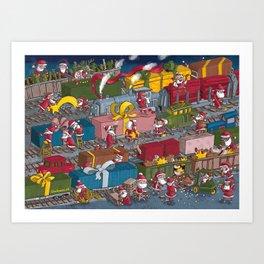 Christmas rerailed Art Print