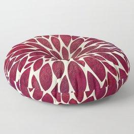 Petal Burst - Maroon Floor Pillow