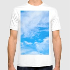 Sky Clouds MEDIUM White Mens Fitted Tee