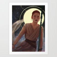 SW:TFA - Rey Art Print