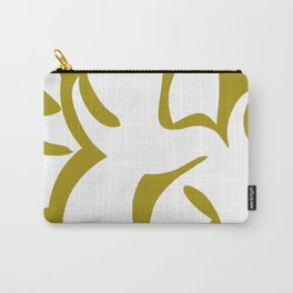 Geometric Abstract Floral Design Pattern Mustard  Carry-All Pouch