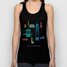 New York Skyline WTC Poster Color Unisex Tank Top