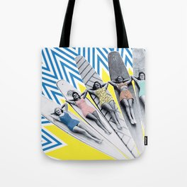 Sun Surfing Tote Bag