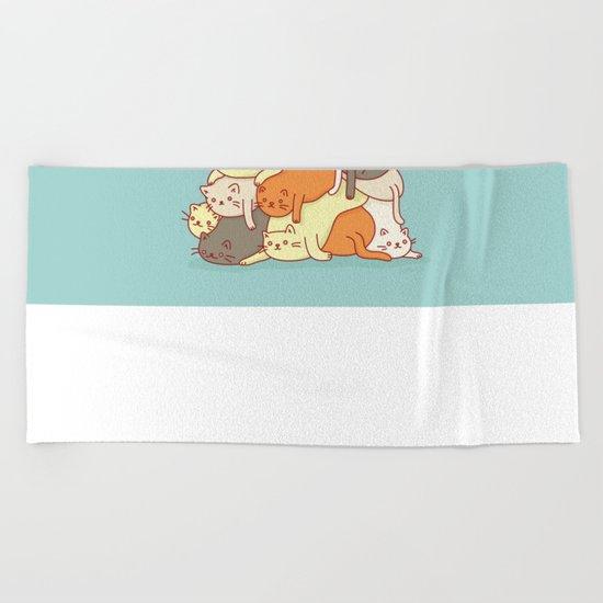 Meowtain Beach Towel