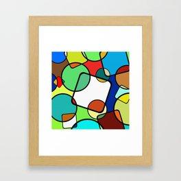 Shapes And Shades Framed Art Print