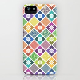 Colorful Floral Pattern III iPhone Case
