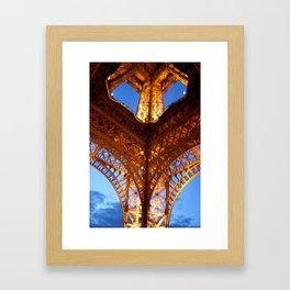 Looking up-Eiffel Tower-Paris Framed Art Print