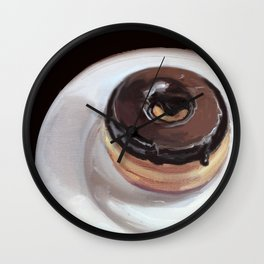 Chocolate Donut Wall Clock