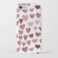 artsy iPhone & iPod Cases featuring Artsy Hearts by Shifra Whiteman